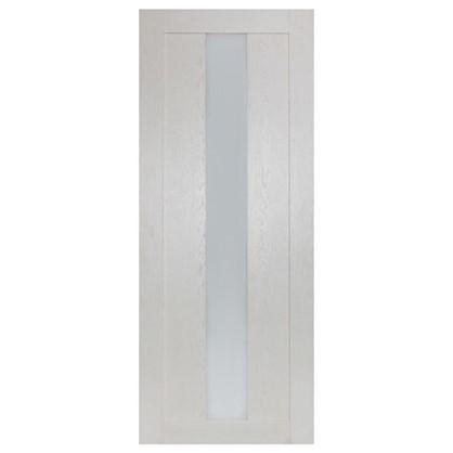 Полотно дверное остеклённое Фортуна 200х90 см цвет белый дуб