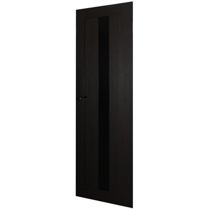 Полотно дверное остеклённое Фортуна 200х90 см цвет венге