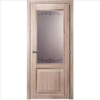 Полотно дверное остеклённое Катрин 70x200 см CPL цвет акация с фурнитурой