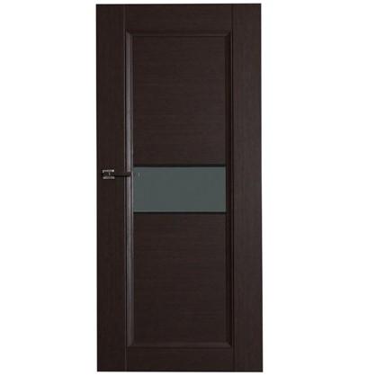 Купить Полотно дверное остеклённое Конкорд cpl 200х60 см цвет черный дуб дешевле