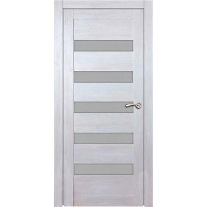 Полотно дверное остеклённое Лайн 200х80 см цвет дуб бриг
