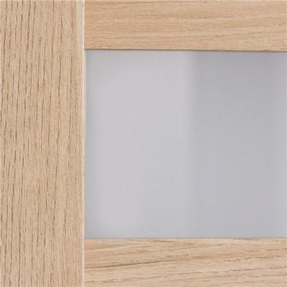 Купить Полотно дверное остеклённое Лайн 200х80 см цвет дуб глостер дешевле