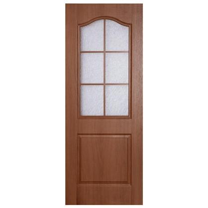 Полотно дверное остеклённое ламинированное Антик 200х60 см цвет итальянский орех
