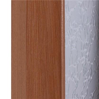 Полотно дверное остеклённое ламинированное Антик 200х80 см цвет итальянский орех
