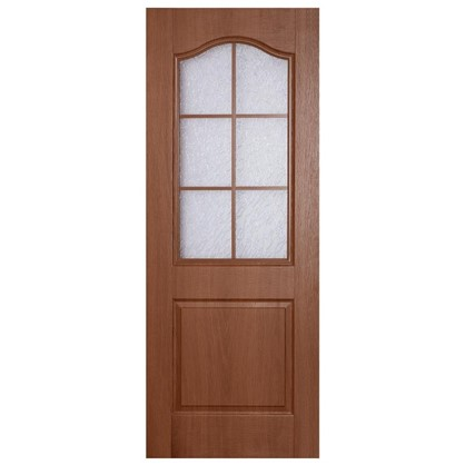 Полотно дверное остеклённое ламинированное Антик 200х90 см цвет итальянский орех