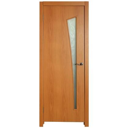 Полотно дверное остеклённое ламинированное Белеза 200х90 см цвет миланский орех