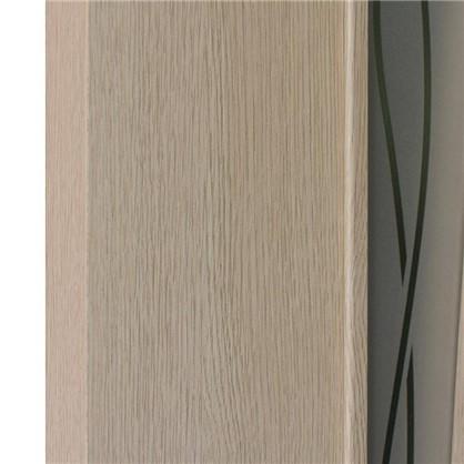 Полотно дверное остеклённое ламинированное Белеза 200x60 см цвет белый дуб