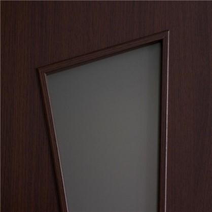 Купить Полотно дверное остеклённое ламинированное Белеза 200x70 см цвет венге дешевле