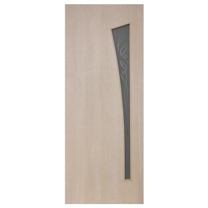 Полотно дверное остеклённое ламинированное Белеза 200x80 см цвет белый дуб