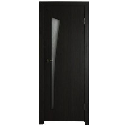 Полотно дверное остеклённое ламинированное Белеза 200x90 см цвет венге