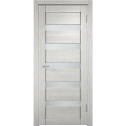 Полотно дверное остеклённое Мюнхен 60x200 см ламинация цвет слоновая кость 3D