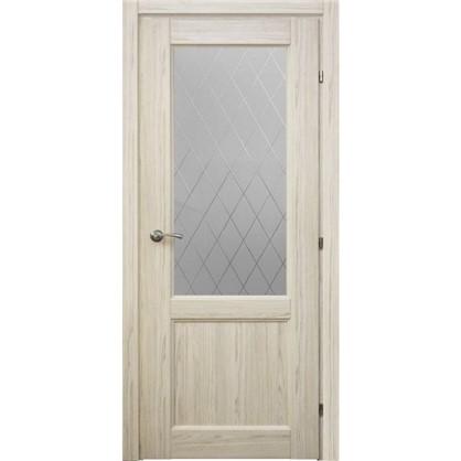 Полотно дверное остеклённое Пино 80x200 см CPL с фурнитурой