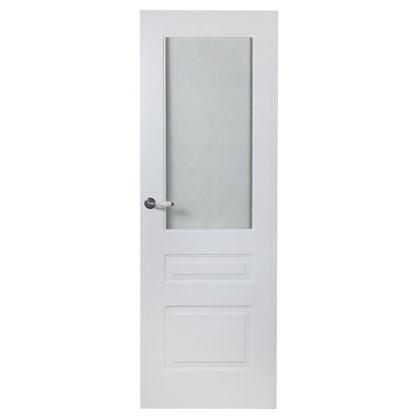 Полотно дверное остеклённое Роялти 200х60 см цвет белый