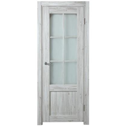 Полотно дверное остеклённое Рустик 200х90 см цвет северная сосна