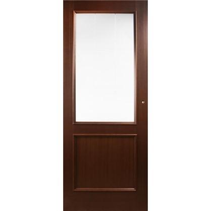 Полотно дверное остеклённое шпонированное Этерно 200x70 см цвет итальянский орех