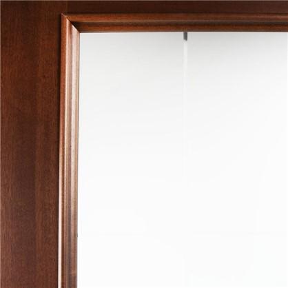Полотно дверное остеклённое шпонированное Этерно 200x90 см цвет итальянский орех