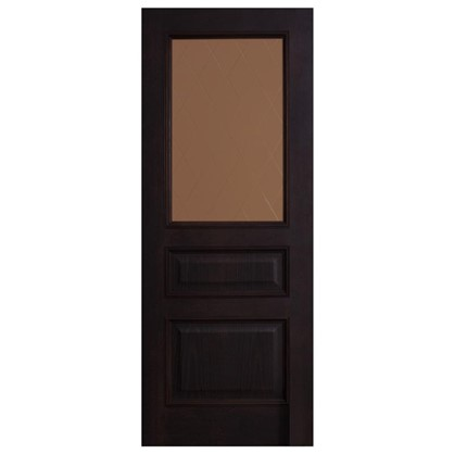 Полотно дверное остеклённое шпонированное Вельми 200х60 см цвет венге