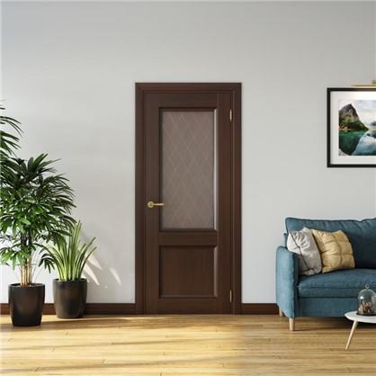 Полотно дверное остеклённое Танганика 200х80 см