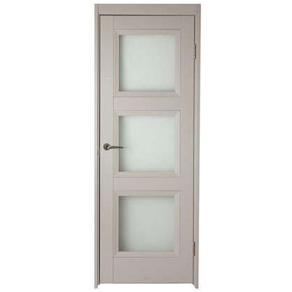 Полотно дверное остеклённое Трилло200х80 см цвет ясень