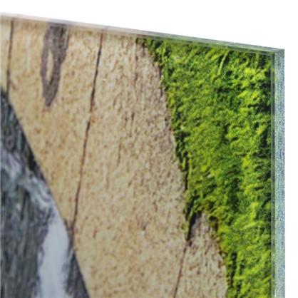 Постер на стекле 47х64 см Фонтан Нептун
