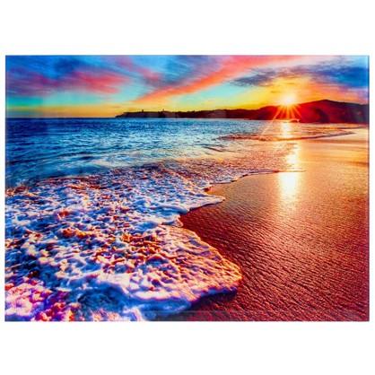 Купить Постер на стекле 47х64 см Море в закате дешевле