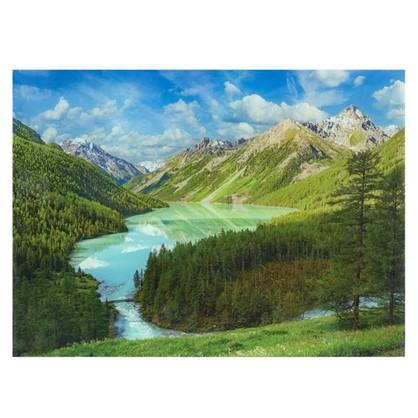 Постер на стекле 47х64 см Золотые горы Алтая