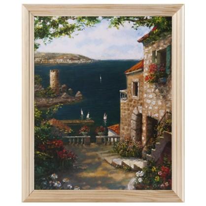 Постер в раме 20х25 см Средиземноморский пейзаж