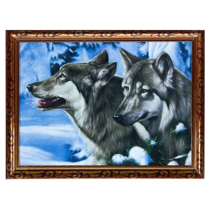Купить Постер в раме 30х40 см Братья волки дешевле