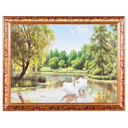 Купить Постер в раме 30х40 см Лебеди дешевле