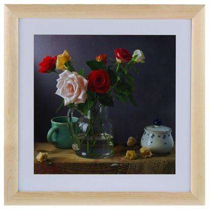 Купить Постер в раме 40х40 см Розы дешевле