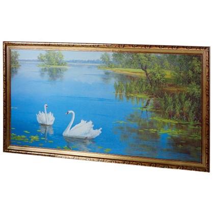 Купить Постер в раме 50х100 см Лебеди на озере дешевле