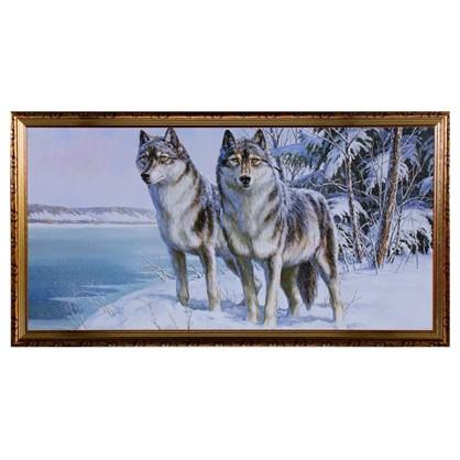 Купить Постер в раме 50х100 см Волк и волчица дешевле