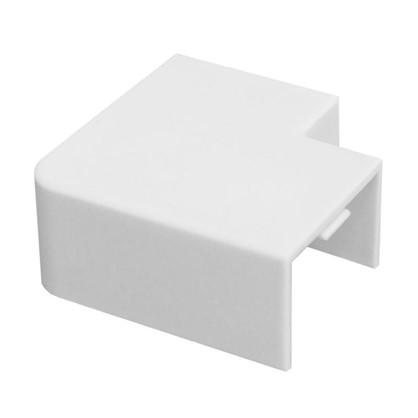 Поворот 90 градусов 25/16 мм цвет белый 4 шт.