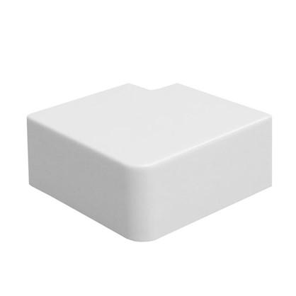Купить Поворот 90 градусов 40/25 мм цвет белый 4 шт. дешевле