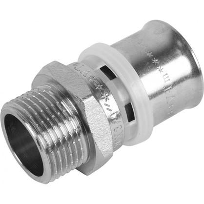 Пресс-муфта переходник наружная резьба 26х3/4 мм никелированная латунь