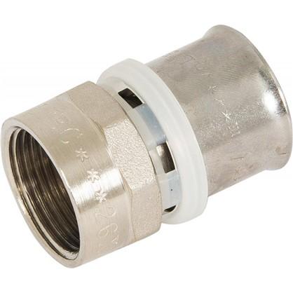 Пресс-муфта переходник внутренняя резьба 26х3/4 мм никелированная латунь