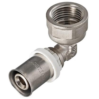 Пресс-угольник внутренняя резьба 26х1 мм никелированная латунь
