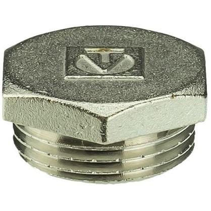 Пробка Valtec наружная резьба 1 мм никелированная латунь