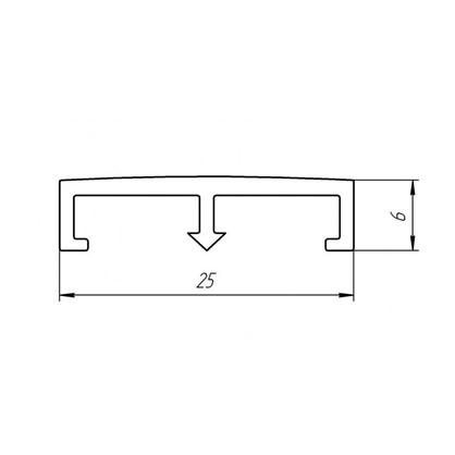 Профиль декор для плитки 25x 250 см