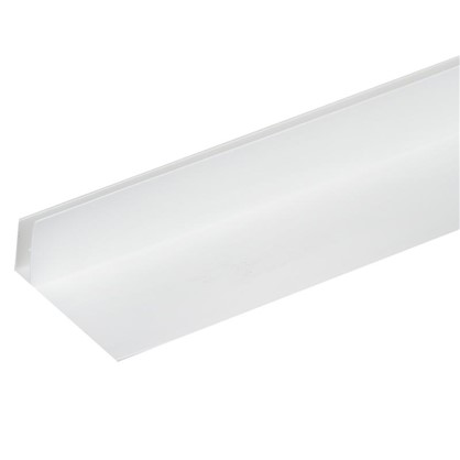 Профиль ПВХ F-образный 60 мм для панелей 8 мм 3000 мм цвет белый