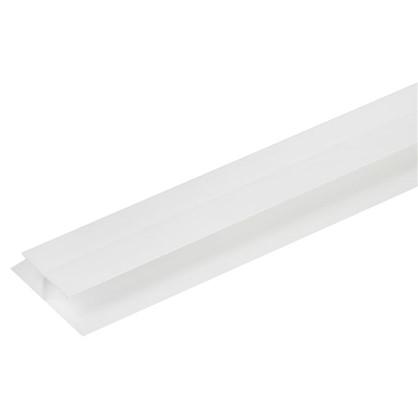 Купить Профиль ПВХ соединительный для панелей 8 мм 3000 мм цвет белый дешевле