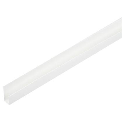 Купить Профиль ПВХ стартовый/финишный Т8/10 мм 3 м цвет белый дешевле