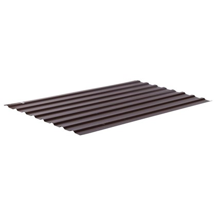 Профнастил С20 1.14x2 м с полиэстеровым покрытием 035 мм цвет коричневый