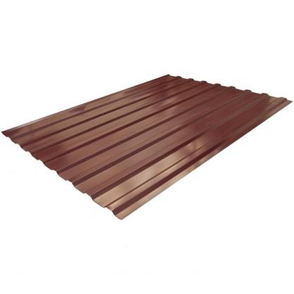 Купить Профнастил С20 1.14x2 м с полиэстеровым покрытием 035 мм цвет вишневый дешевле