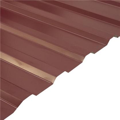 Профнастил С20 1.14x2 м с полиэстеровым покрытием 035 мм цвет вишневый