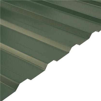 Купить Профнастил С20 1.14x2 м с полиэстеровым покрытием 035 мм цвет зелёный дешевле