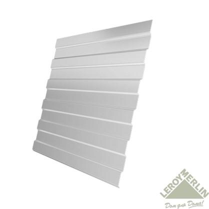 Купить Профнастил С8 1.18x2 м с полиэстеровым покрытием 035 мм цвет белый дешевле
