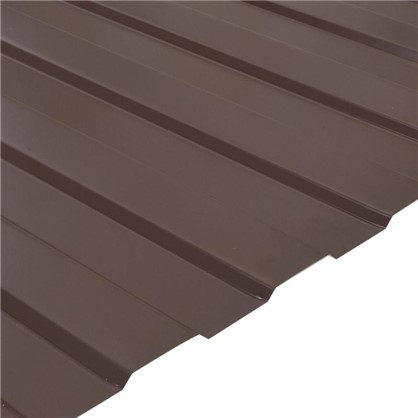 Купить Профнастил С8 1.18x2 м с полиэстеровым покрытием 035 мм цвет коричневый дешевле