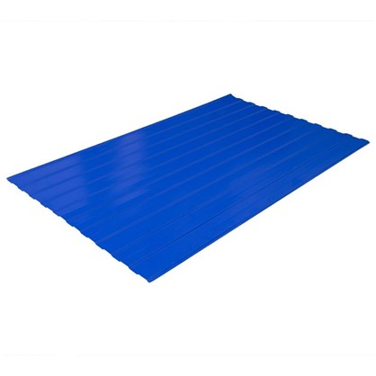 Купить Профнастил С8 1.18x2 м с полиэстеровым покрытием 035 мм цвет синий дешевле