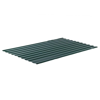 Купить Профнастил С8 1.18x2 м с полиэстеровым покрытием 035 мм цвет зеленый дешевле